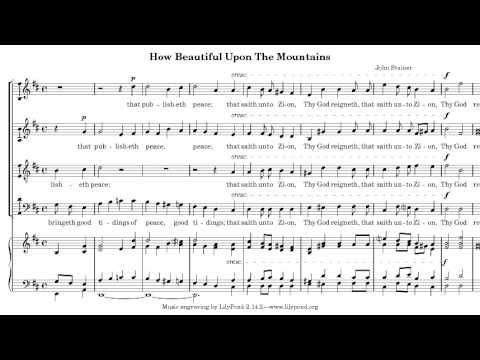 How Beautiful Upon the Mountains - John Stainer - Manchester Chorale