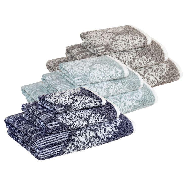 Authentic Hotel and Spa Margot Turkish Cotton Jacquard 3-piece Bath Towel Set