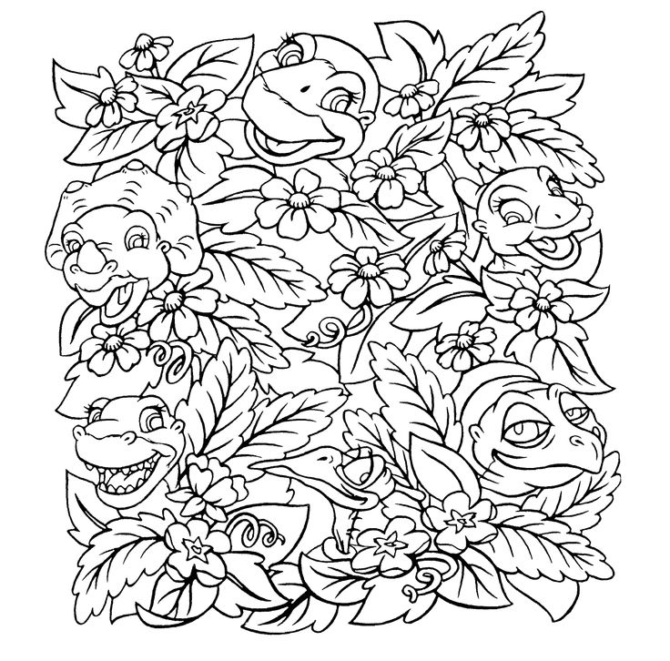 Land before time coloring pages for kids printable free