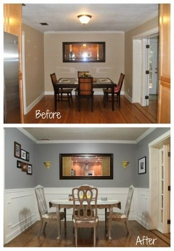 dining room before and after - Dining Room Decor Ideas