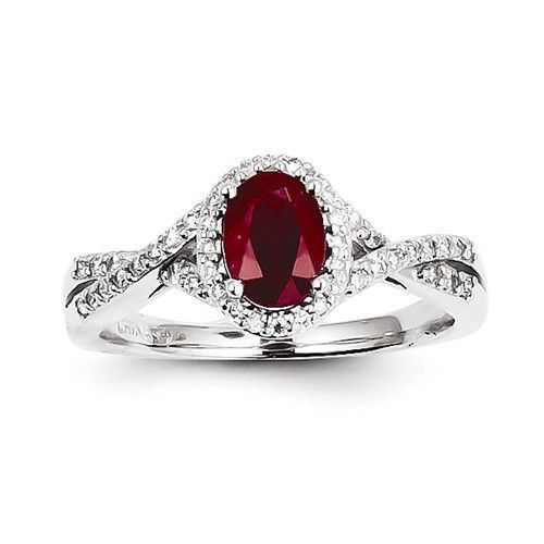 - Material: 14k White Gold - Approx. Weight: 3.2gm Width: 2 mm Band Stone Type: Diamond Stone Creation Method:Natural Stone Weight:0.210 ctw Stone Clarity:I1 (AA) Stone Type: Ruby Stone Creation Metho