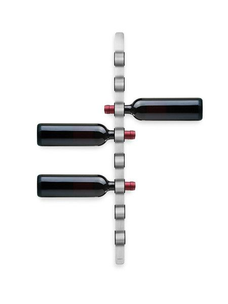 Stainless Steel Wine Rack (wall mounted) at puremodern.com #modern #decor
