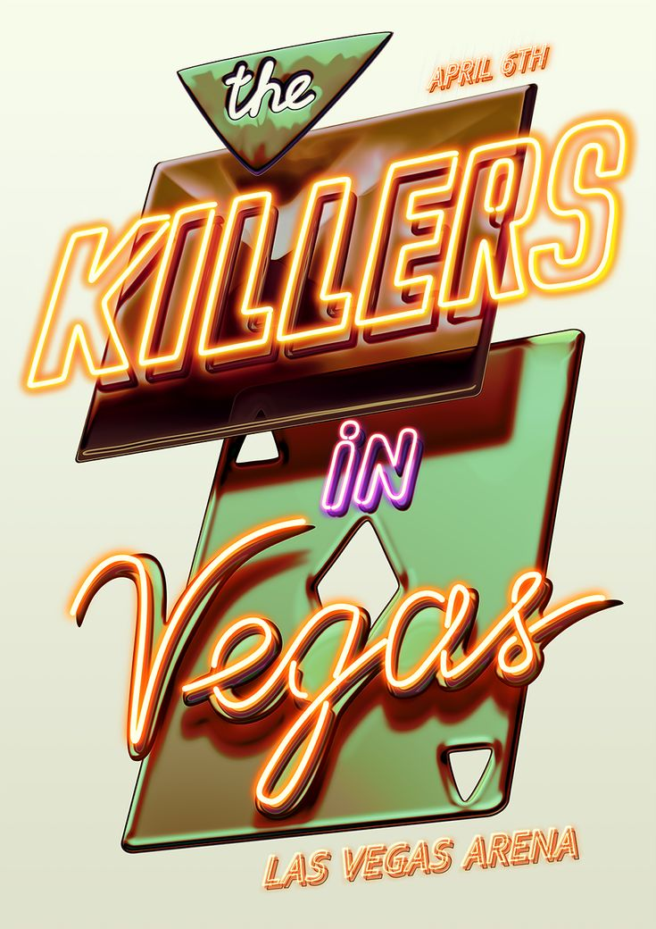 The Killers poster on Behance