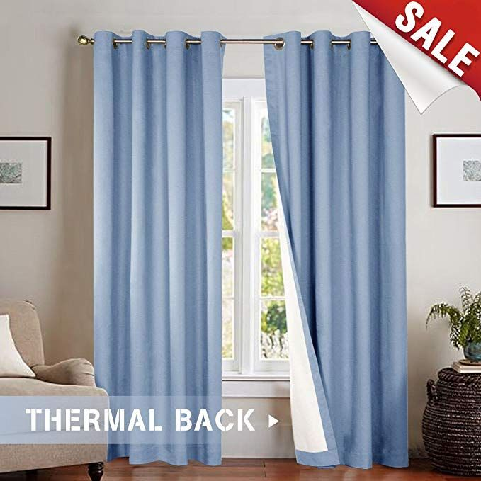 Moderate Blackout Thermal Backed Curtains For Living Room Lined