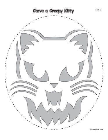 FREE Halloween Pumpkin Carving Cat Template http\/\/templatehaven - halloween template