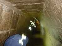 I was in Cancun when I asked my buddy to take a picture inside the pyramid at Chichen Itza, it is about 11AM and 35C outside clear sky...You see the ectoplasm and behind that a monkey holding a baby monkey...I am lost for words on this one...