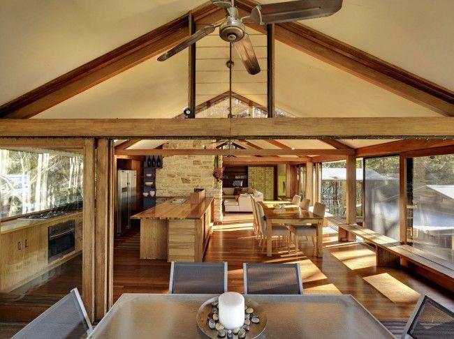 bushland, architects, materials, Frank Lloyd Wright, wood, timber, stone, brick…