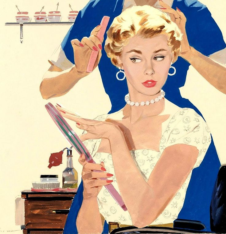 At the beauty salon