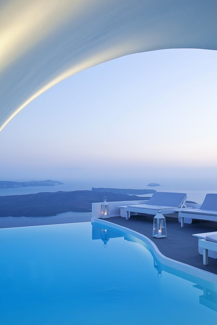 View onto the Caldera from the Chromata Hotel in Santorini