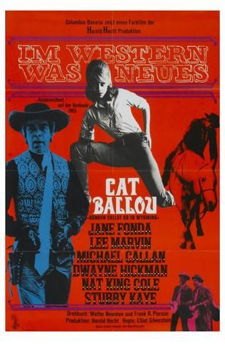 German Movie Posters | Cat Ballou, German Movie Poster, 1965 Premium Poster