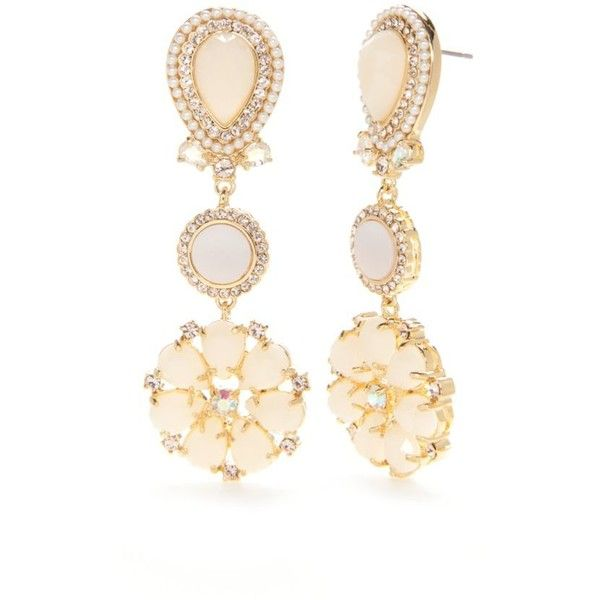 Featuring Sleek Gold Tone Metal Crafted Into A Chandelier Design These Eye Catching Blush Drop Earrings From Kate Spade New York Are Beautiful