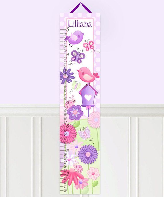 Sprinkles Design Canvas Height Growth Chart for Kids Lila Mae Canvas Child Growth Chart Cherry Red Sprinkles