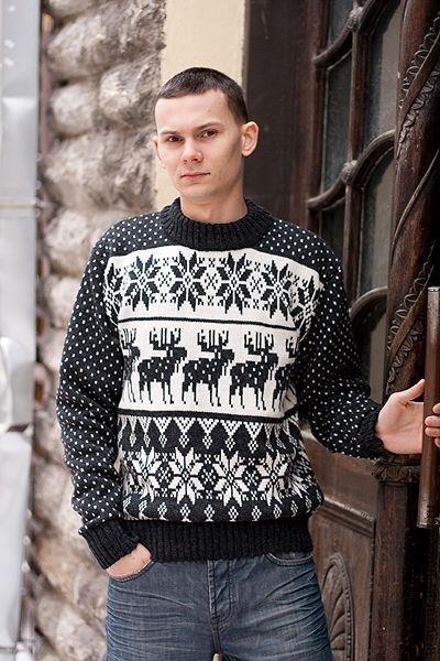 Мужской свитер со скандинавским узором