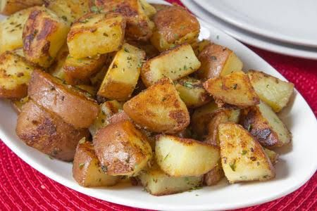 """Stove-Top """"roasted"""" Red Potatoes"""