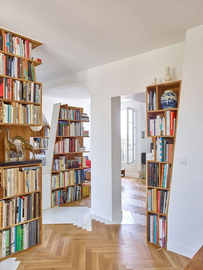 H2O Architectes (Франция). Диагональная квартира в парижской мансарде — «Д.Журнал» — журнал о дизайне и архитектуре