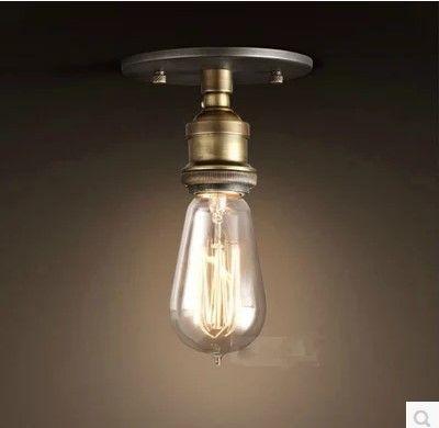 Купить Ретро стиле лофт эдисон промышленные винтаж потолочные лампы светильники внутреннего освещения поверхностного монтажаи другие товары категории Потолочные светильникив магазине JIAHE LED LIGHTINGнаAliExpress. светом датчик освещенности и свет загорается свет