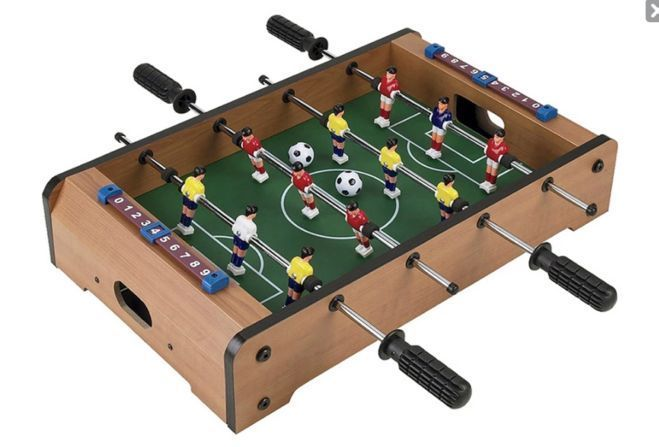 Table Top Football Wood Family Game Soccer Sport Gift Indoor Games Players Ball #TableTopFootball