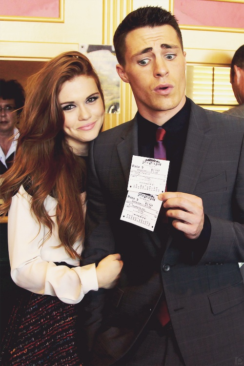 Holland Roden and Colton Haynes at the 2012 Breeder's Cup (November 3, 2012). Two painfully good looking people.