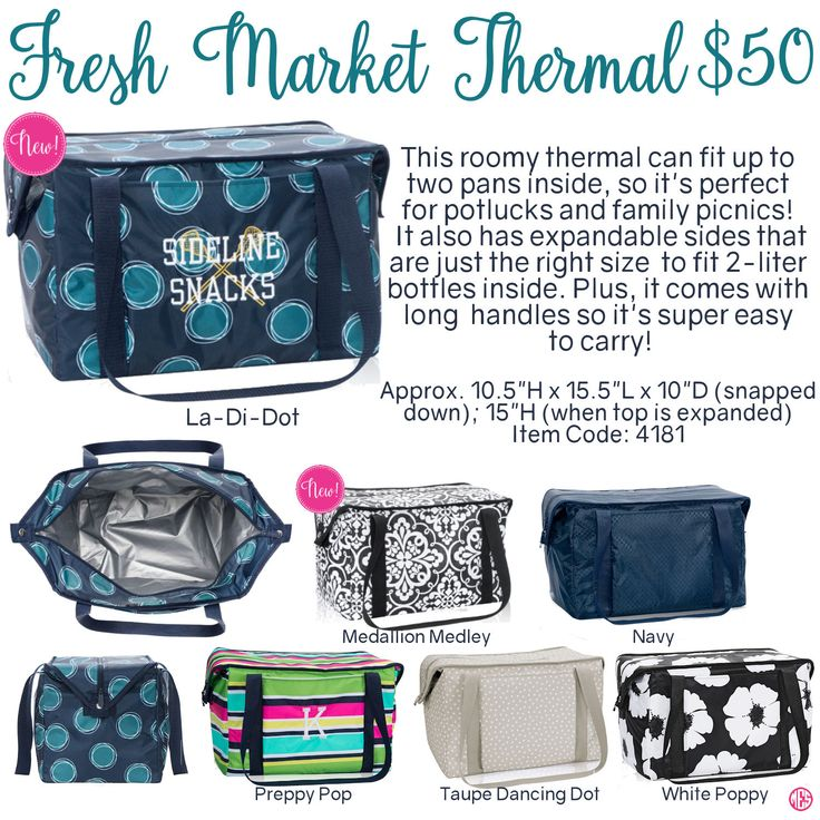 Fresh Market Thermal by Thirty-One. Fall/Winter 2016. Click to order. Join my VIP Facebook Page at https://www.facebook.com/groups/1603655576518592/