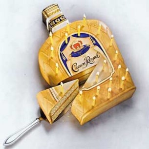 Vintage Crown Royal cake! This would be cool to make!!!