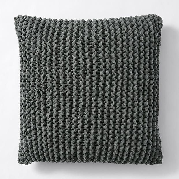 Picardy Knitted Cushion Grey - 45cm