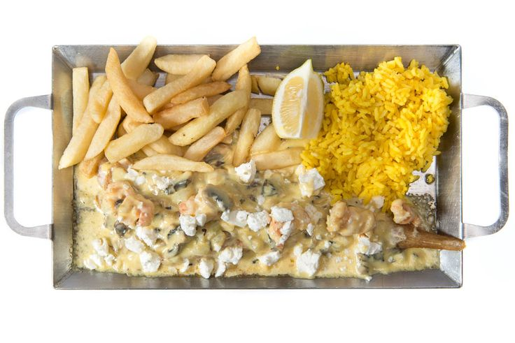 Sole Mornay - 200g Sole served with a mushroom sauce topped with 5 prawns & feta R119.90. Ocean Basket - 014 537 2750