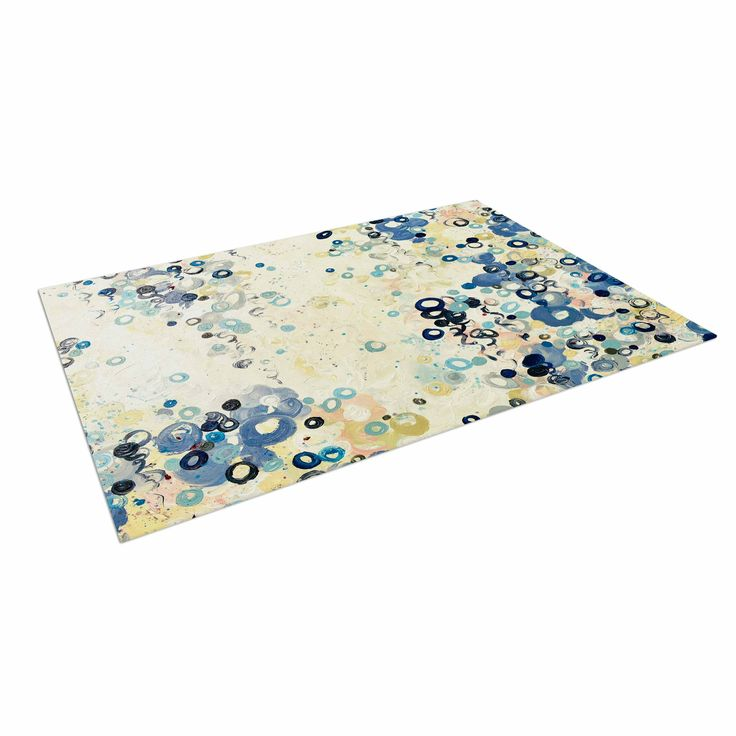 "Ebi Emporium ""And It's Up She Goes"" Blue Cream Indoor / Outdoor Floor Mat"