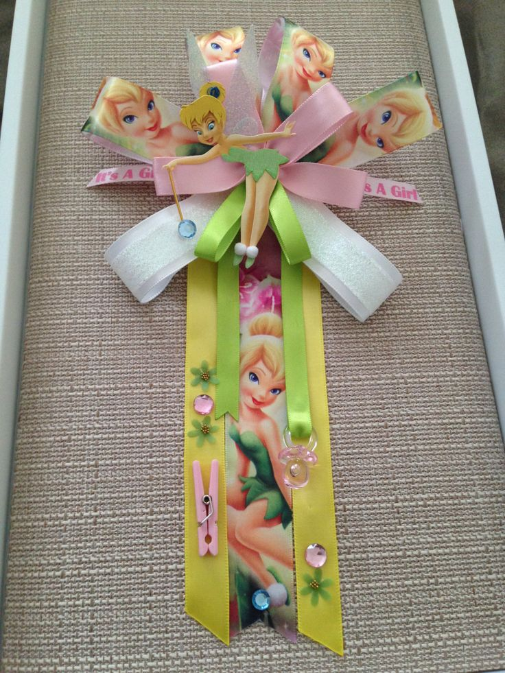 tinkerbell inspired baby shower corsage by babyguardians on etsy https