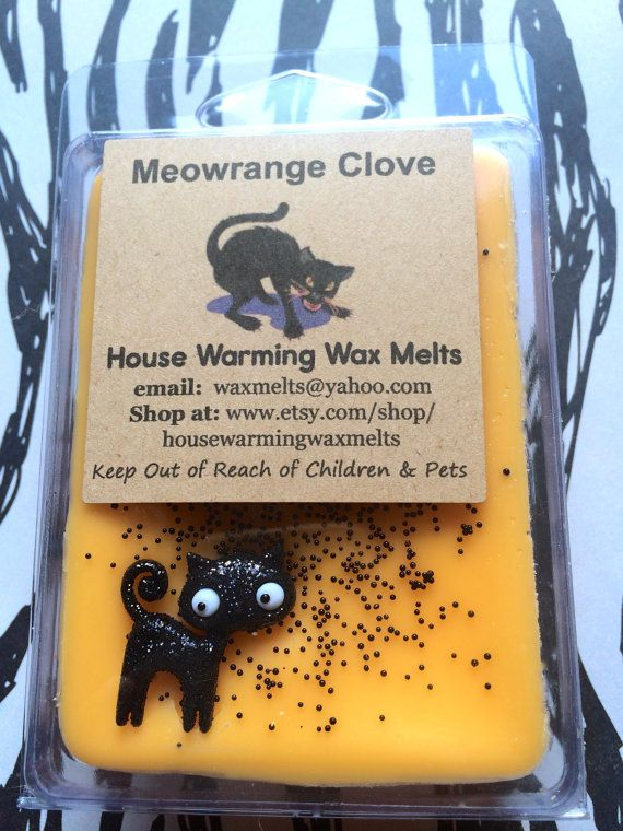 Meowrange Clove - Orange & Clove Wax Melts - 3.5 clamshell packaging ~ Meowrange Clove scent is…. ORANGE AND CLOVE.