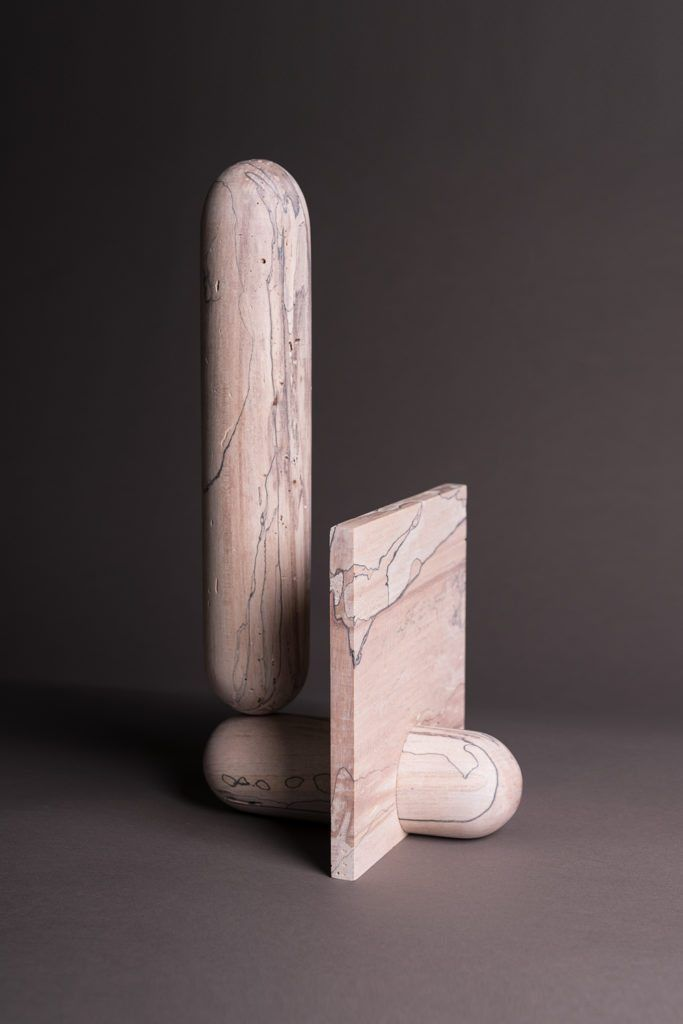 Designers are inspired by totems in order to create everyday objects and furniture with essential forms and the protective function... | Nicholas Hamilton Holmes | wooden sculptures | wooden totems | wood totems | 2018 totem trend | sculptural objects | sculptural art | sculptural totems | organic art | 2018 design trends | wood artist | sacred art | product design | mystical sculptures | mystical design | useful/useless | IDS design fair | craftsmanship | woodworking | handmade sculptures