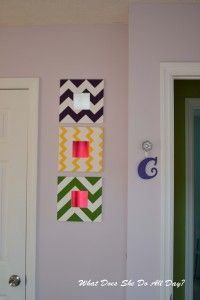 Painted Chevron Mirrors - DIY