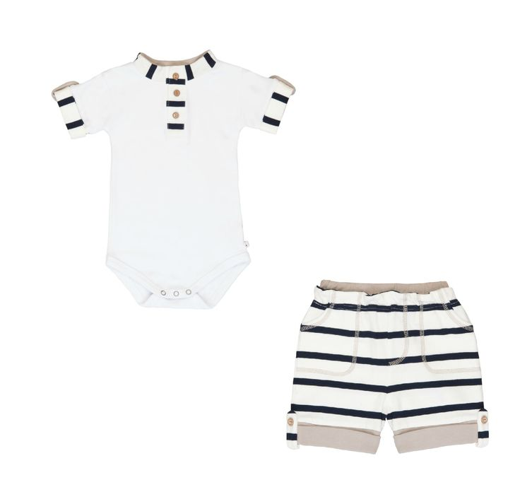 Li'l Zippers Shorts and Bodysuit Set