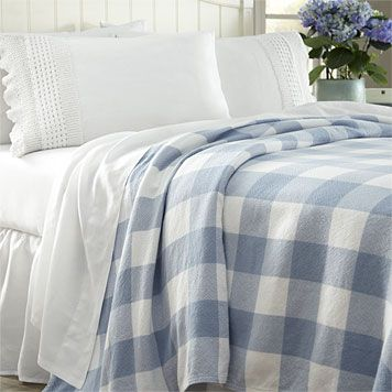 Handwoven Cotton Gingham Blanket -- handmade in Maine, part of our iconic Made in America collection.