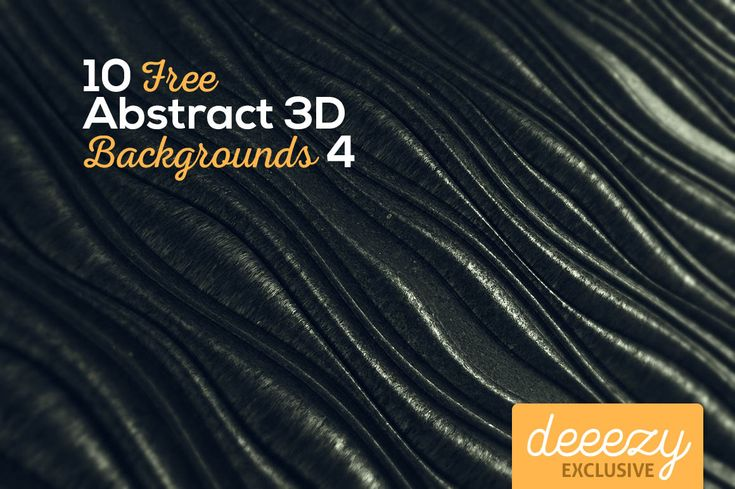 10 Abstract 3D Backgrounds 4 | Deeezy - Freebies with Extended License