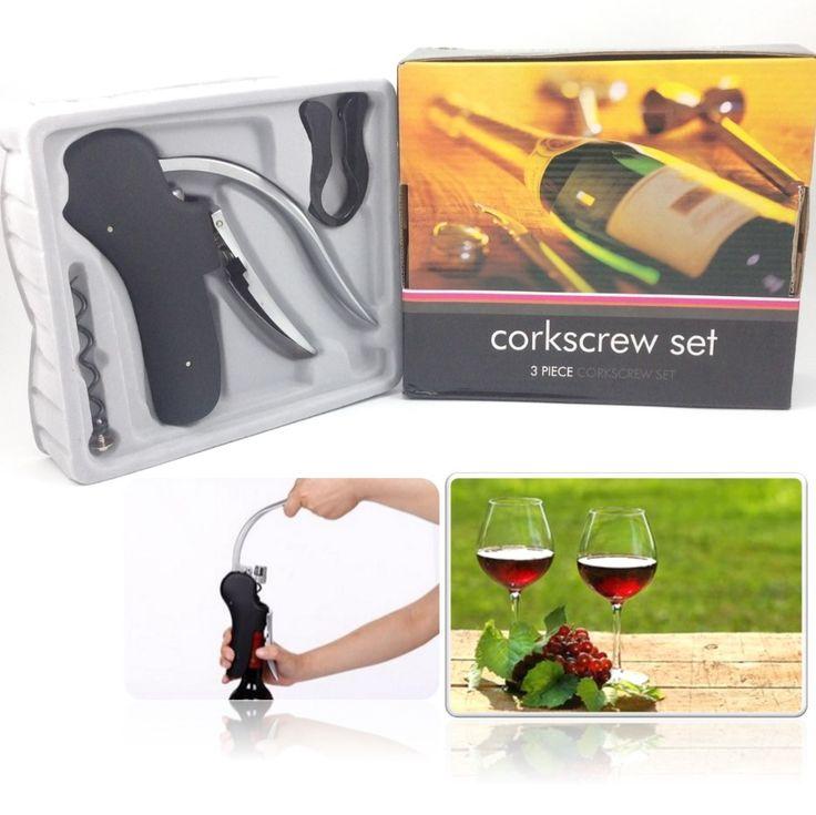 New Wine Tool Set Wine Opener Bar Lever Corkscrew Convenient Screwpull Bottle Openers Foil Cutter Cork Tire Drill Lifter Kit