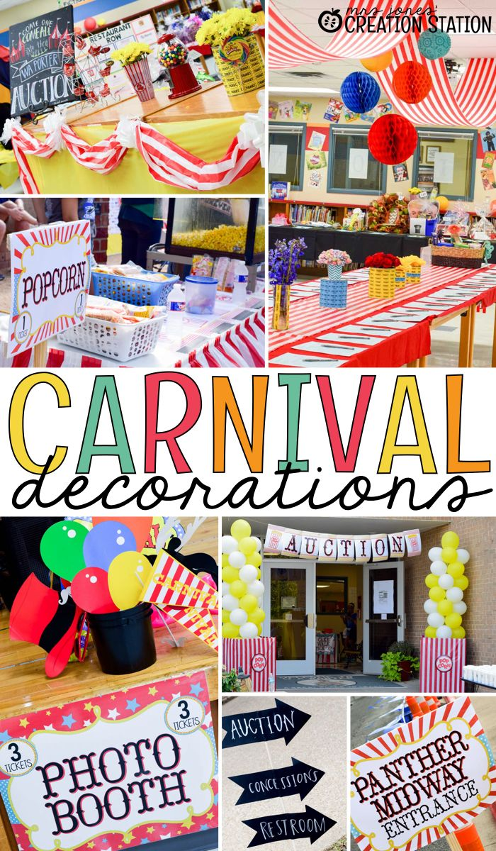 Oriental Trading has great carnival decorations for your next school carnival.  Create a fun school carnival and get some free carnival signs
