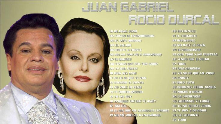 Juan Gabriel Y Rocio Durcal Mix Exitos 2016 Mejores Canciones