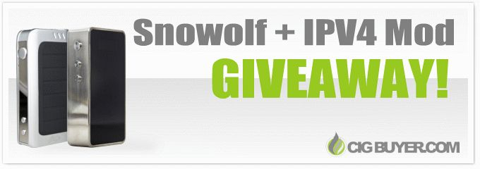 Share Tweet + 1 Mail WARNING: This giveaway is for advanced vaping enthusiasts only! We're giving away a super powerful 200W Snowwolf Box Mod, ...