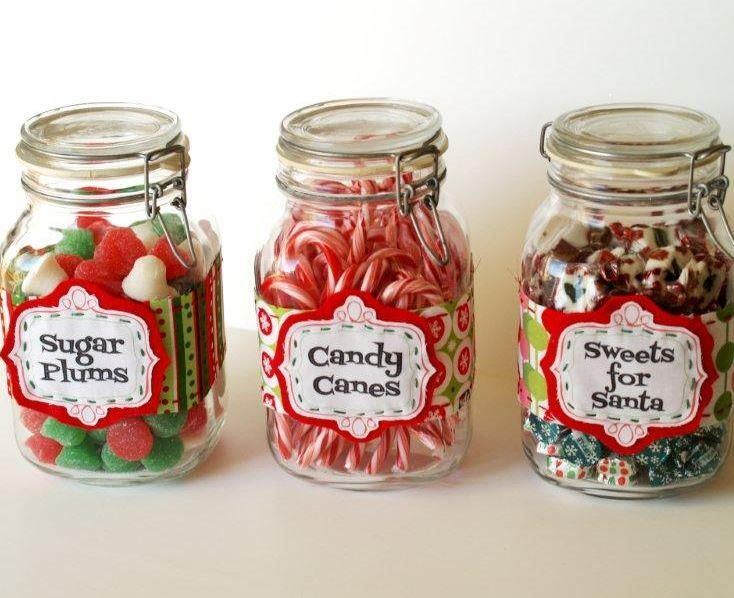 Christmas Candy Jar Labels | AllFreeChristmasCrafts.com