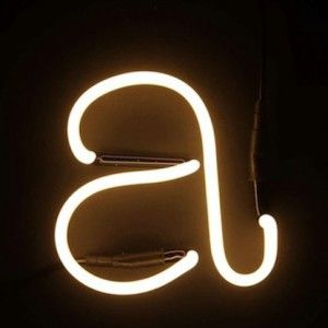 Neon Art - Now available at materialrepublic.com.au #materialrepublic #seletti #neonfont #lighting #homewares #interior