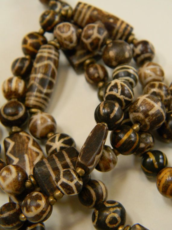 Extremely Fine Antique Burmese Pumtek Bead Necklace by luxethnic, $1650.00   SOLD