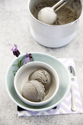Balck Sesame Ice cream, this recipe can be made in a Thermomix, by hand, or in an Ice-cream maker. The only Black Sesame Ice cream recipe you need. #Thermomix #Icecream #frozen