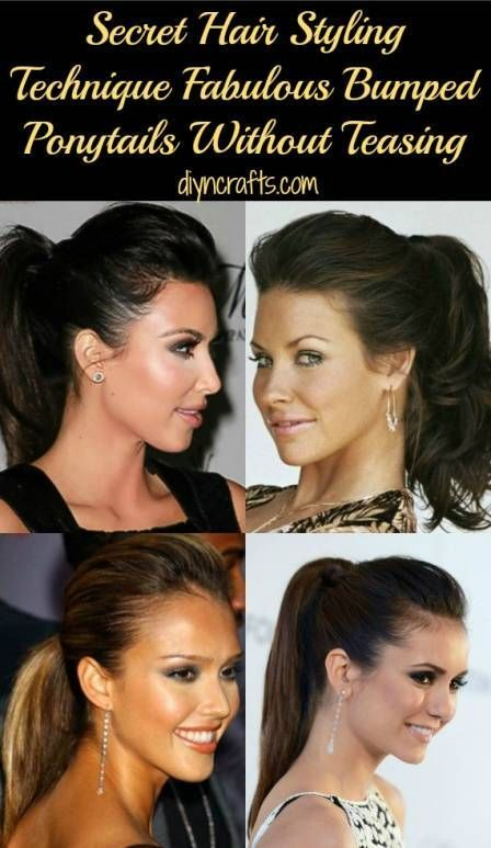 how to make a ponytail with a bump
