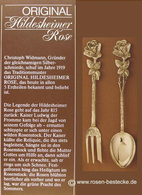 Christoph Widmann hatte die Idee, aus dem beliebten Souvenirlöffel ein ganzes Besteckset herzustellen. Silber+Rosen: Silver-Sunday/ Hildesheimer Rose