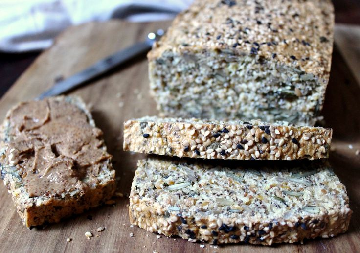 Super Seed Bread. Low carb, gluten free, dairy free and paleo. Recipe on www.thelittlegreenspoon.com