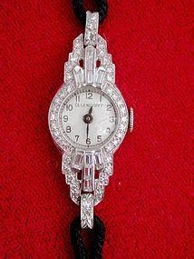 Art Deco Ollendorf Watch Platinum and Diamonds Ladies Watch offered by ArtDecoAntiques, $2450.00