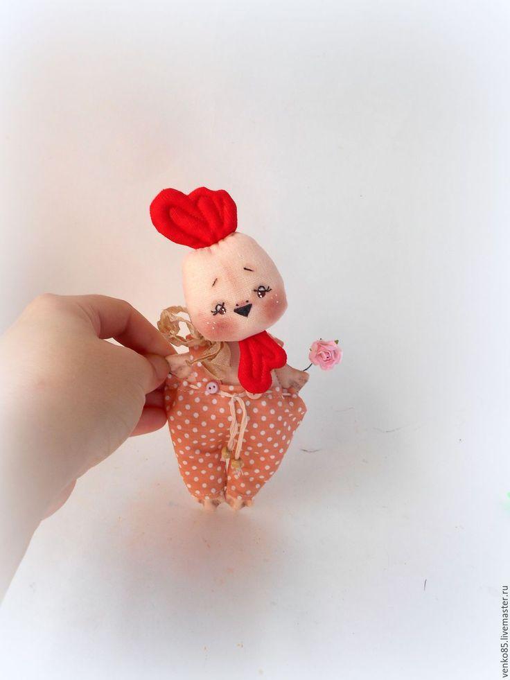 Купить Чудо на ладошке Петух Символ 2017 года игрушка петух сувенир - бежевый
