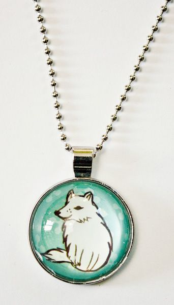 glass winter wolf necklace at http://shop.boygirlparty.com
