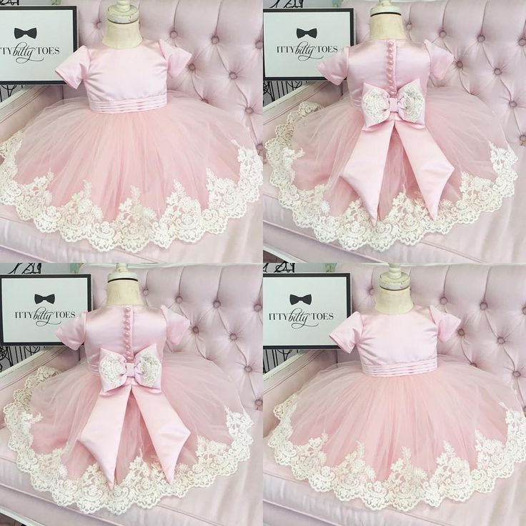 """1,381 Likes, 58 Comments - Luxury Brand For Children (@ittybittytoes) on Instagram: """"One of our personal favorites Izabel Dress (Pink) Available in white too Click link in bio to…"""""""