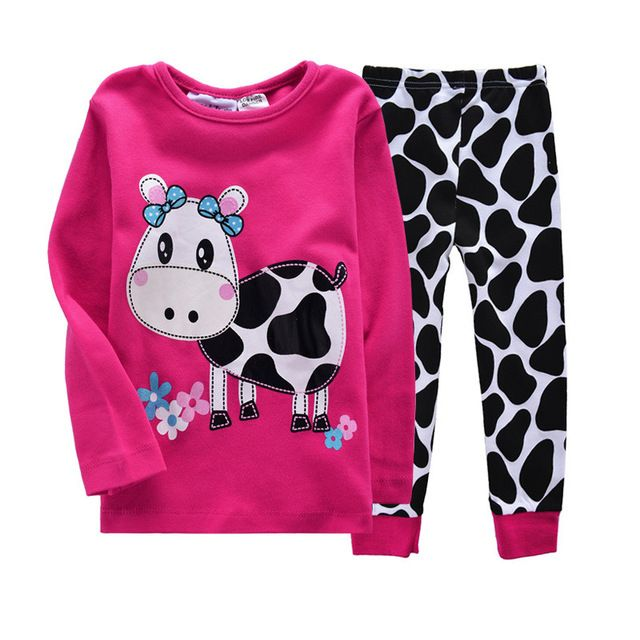 Source NEW cow print kids pajamas sets,children sleepwear nightwear family toddler baby pyjamas on m.alibaba.com